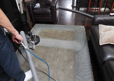 Very dirty area rug cleaned in Allentown, PA