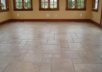 Sunroom tile cleaned in Doylestown, PA