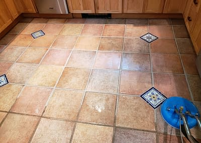 Cleaning kitchen tile in Bucks County, PA