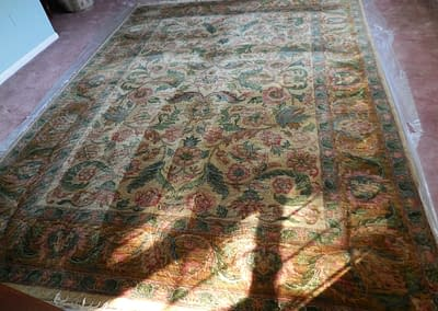 Rug cleaned in Perkasie, PA