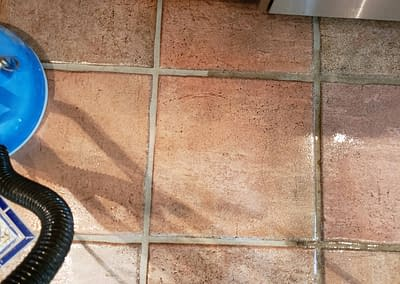 Clean grout lines in Bucks County