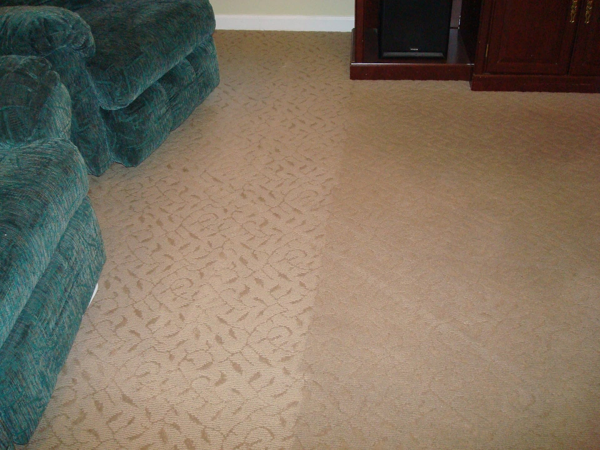 Family room carpet cleaned in Macungie, PA