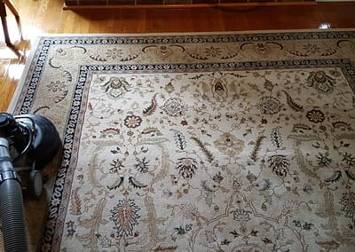 Cleaning a rug in Doylestown, PA