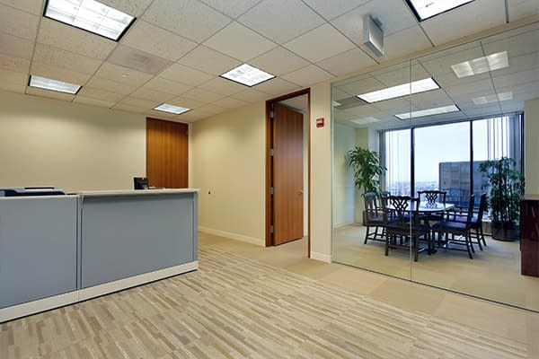 commercial carpet cleaning with gray counter