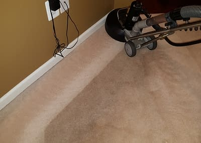 Edge of carpet cleaned in Harleysville, PA