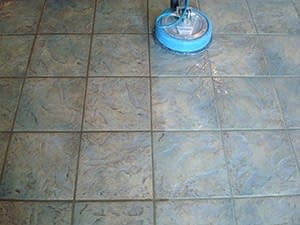 very dirty kitchen tile and grout cleaned professionally