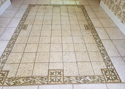 Fancy tile in Ambler foyer yet to be cleaned