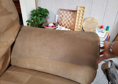 Sofa arm cleaned in North Wales, PA