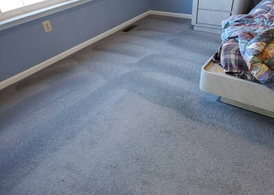 Blue bedroom carpet cleaned in Chalfont, PA