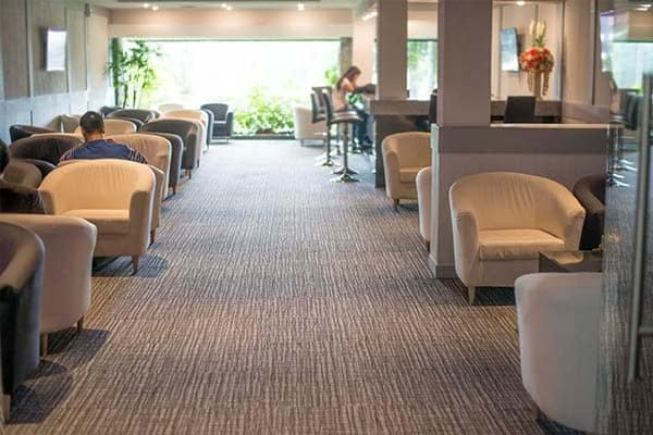 commercial carpet cleaning brown floor