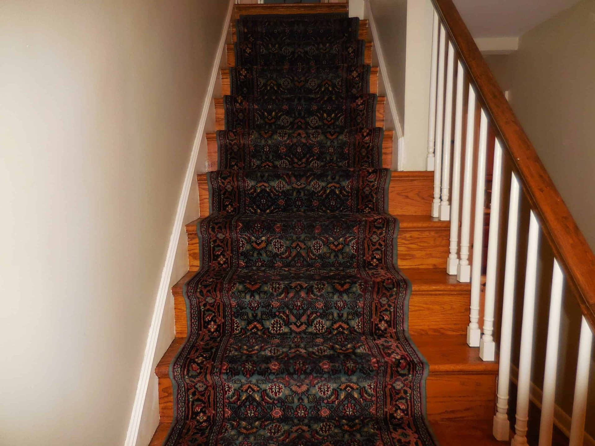 Rug on stairs cleaned in Doylestown, PA