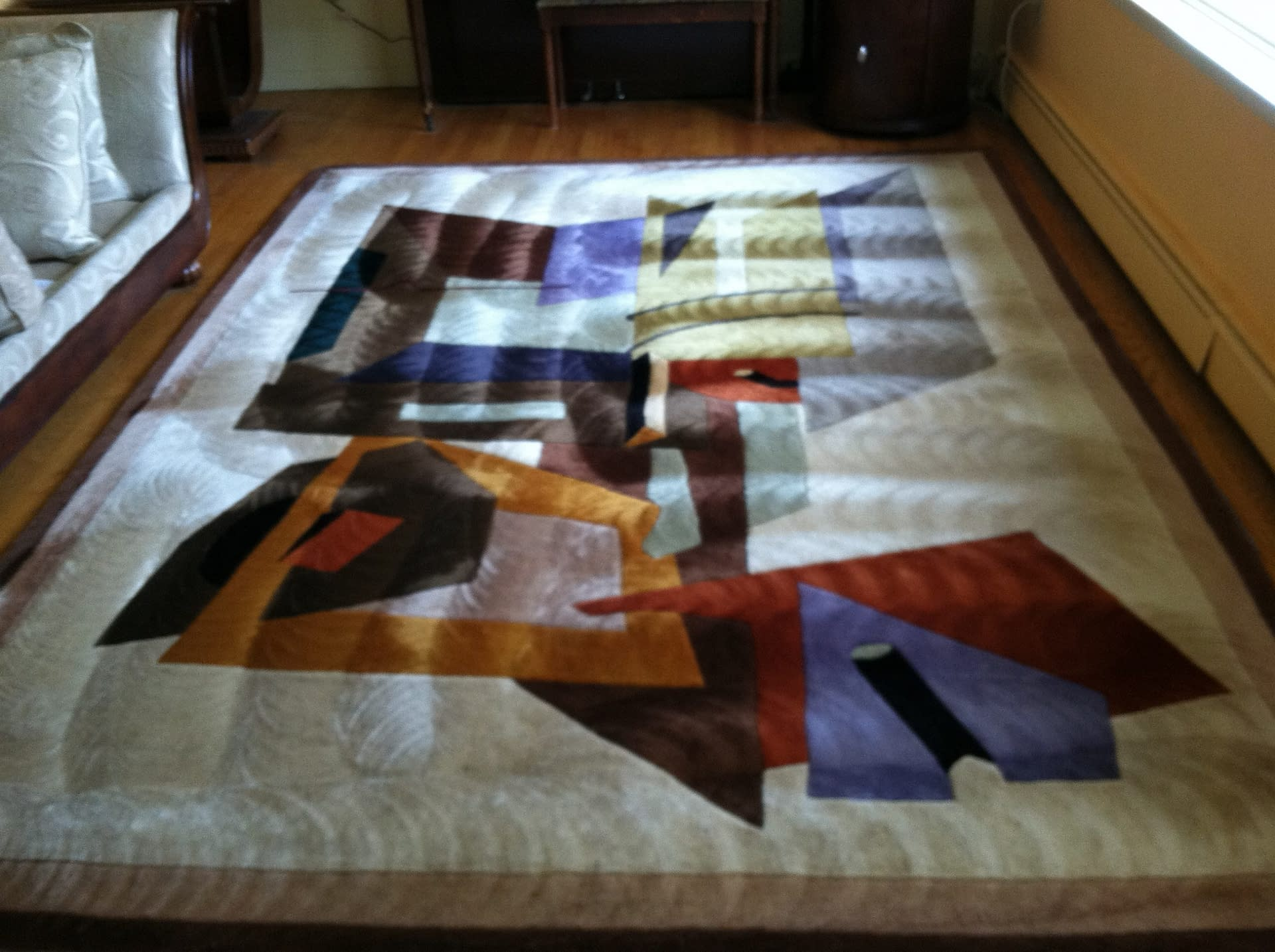 This rug was cleaned in Furlong, PA.