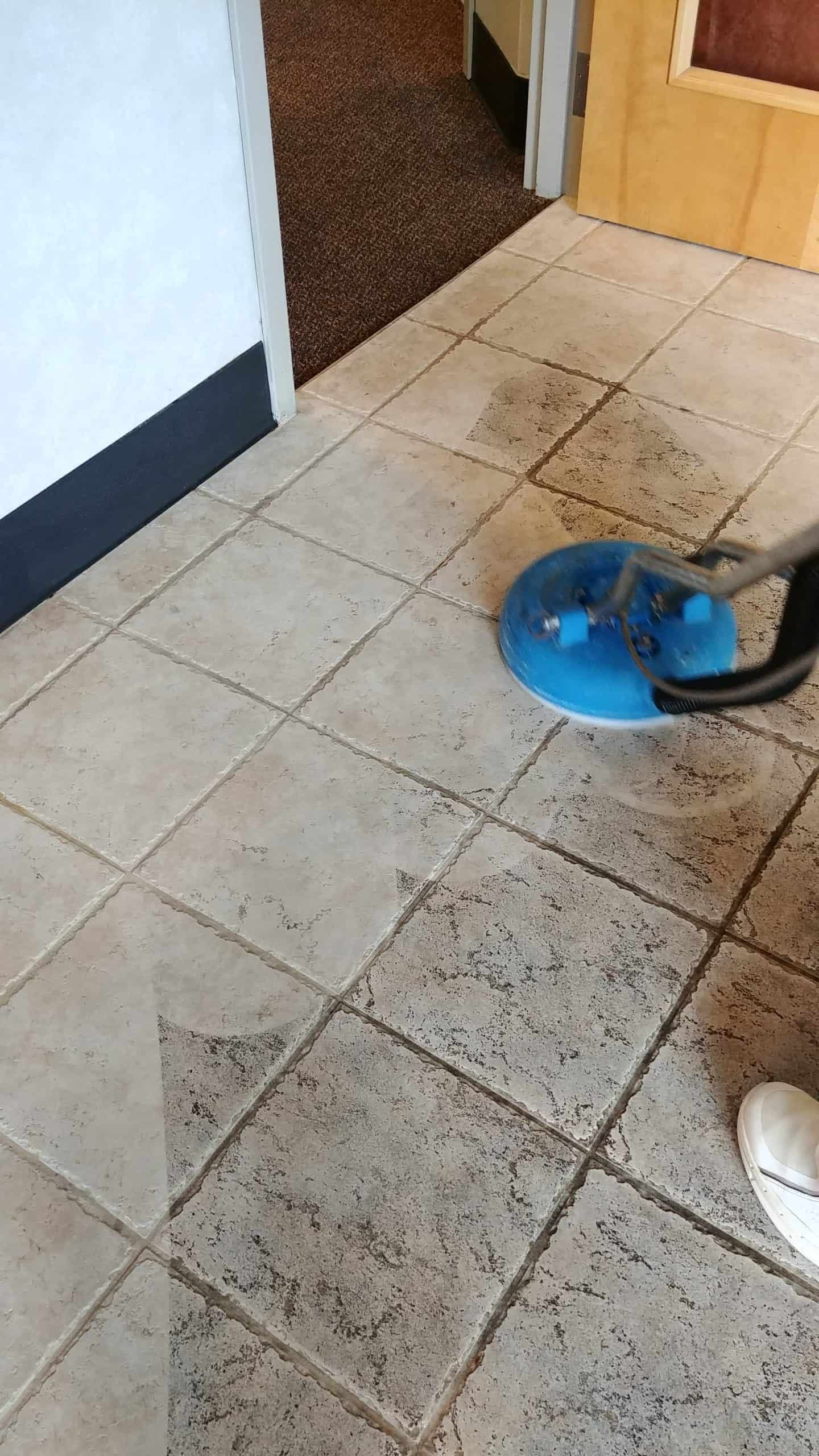 Cleaning tile in Blue Bell