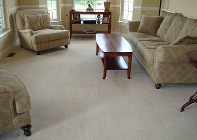 Living room carpet cleaned in Bucks County, PA
