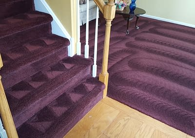 Purple carpet cleaned in Sellersville, PA