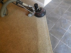 dirty carpet cleaned by carpet cleaning service