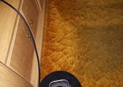 Orange carpet cleaned in Hatfield, PA