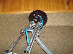 rotovac cleans very dirty carpet